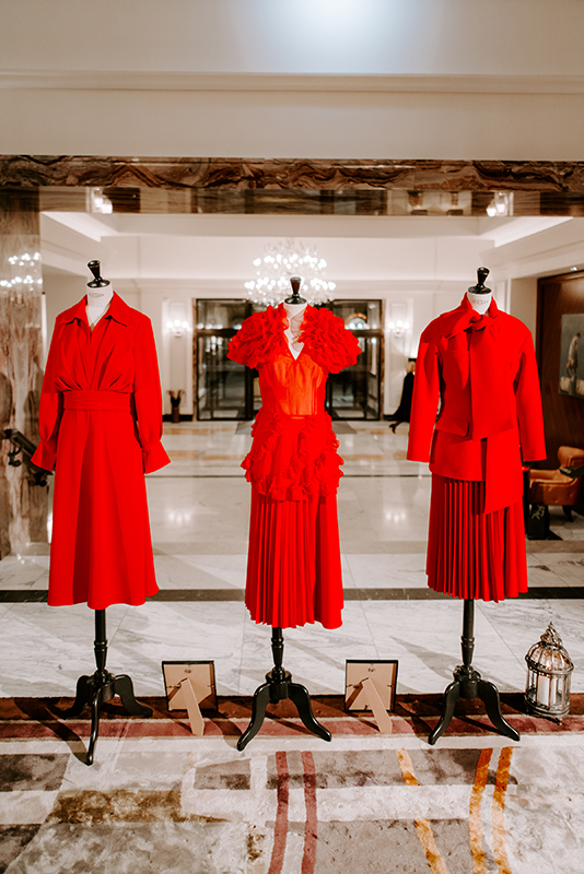 Collection for Ladies in Red of Grand Hotel Kempinski Riga by MCouture
