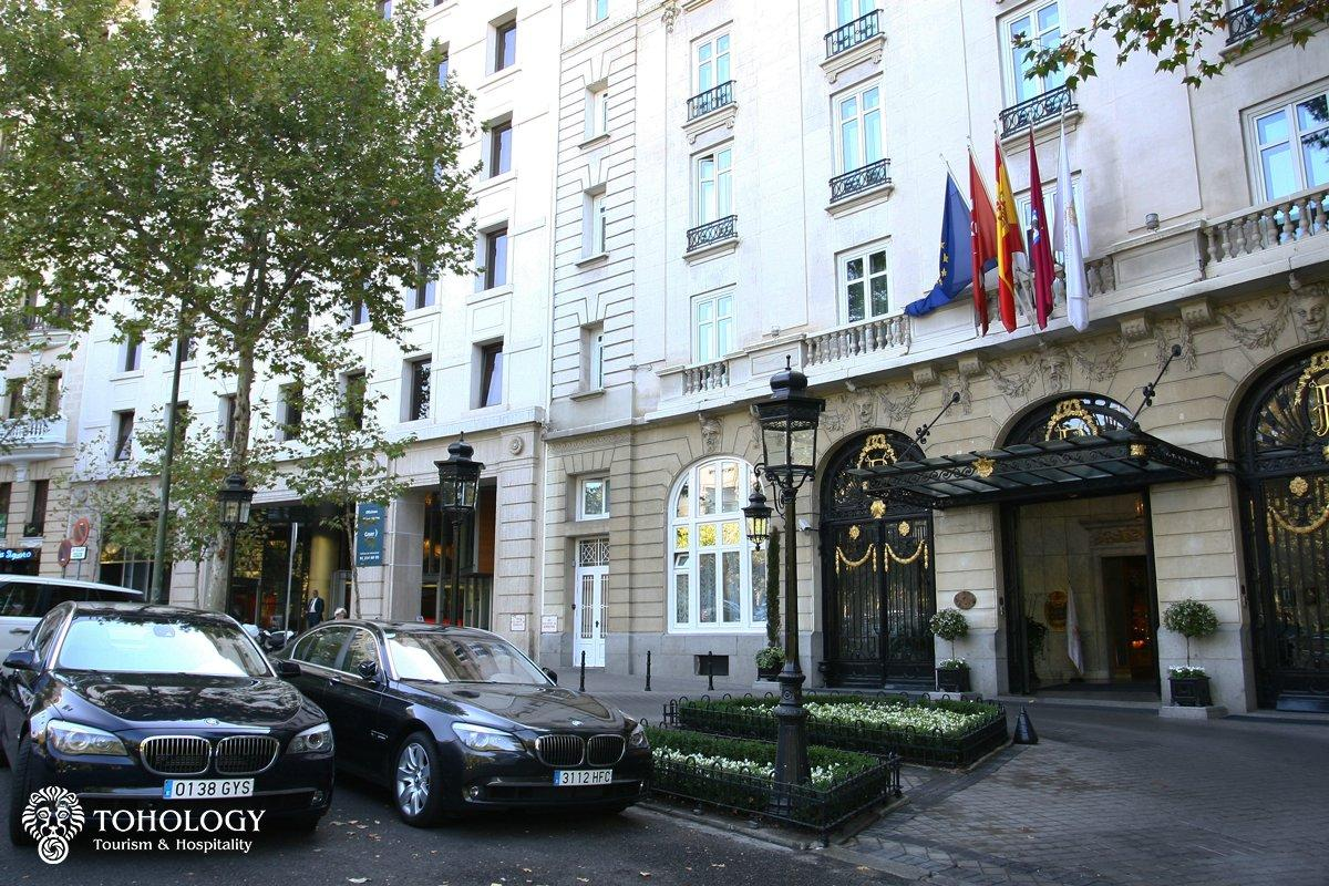 Hotel Ritz Madrid, main entrance