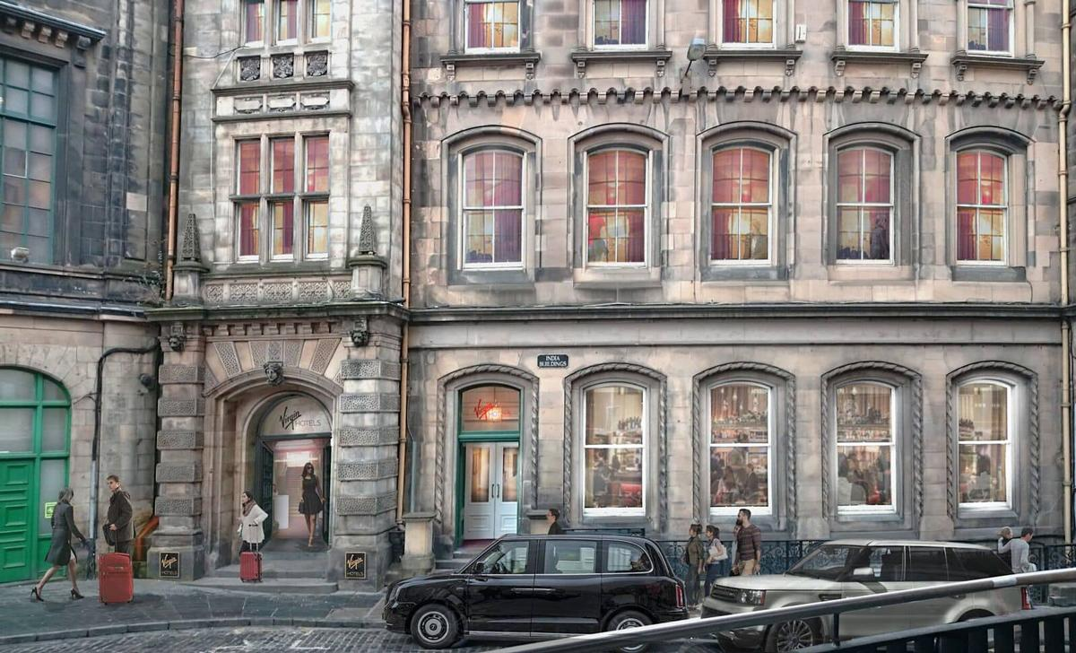 Virgin Hotels Edinburgh, rendering of the exterior <br/>Photo: (с) Virgin Hotels