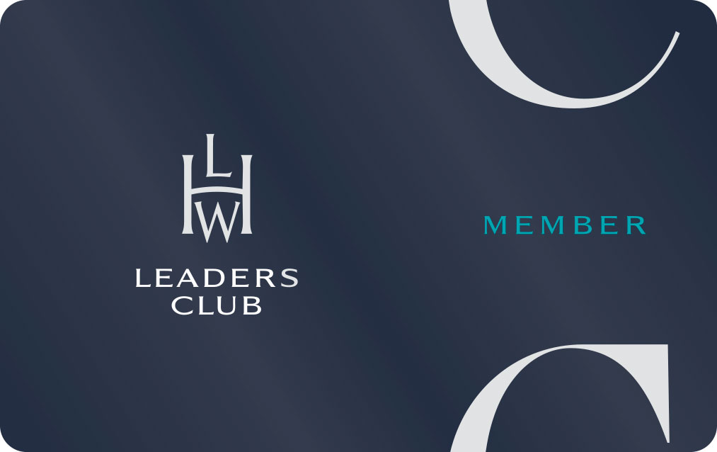 Leaders Club programme card