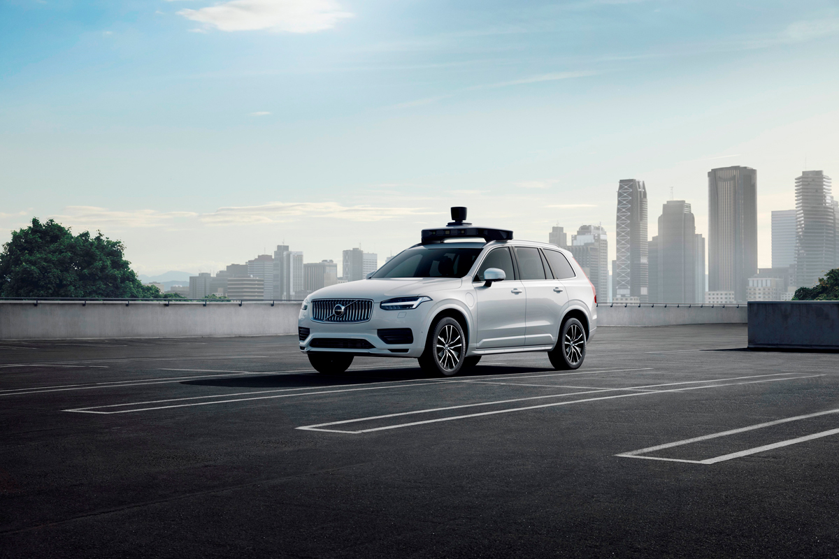 Volvo XC90 with self-driving system