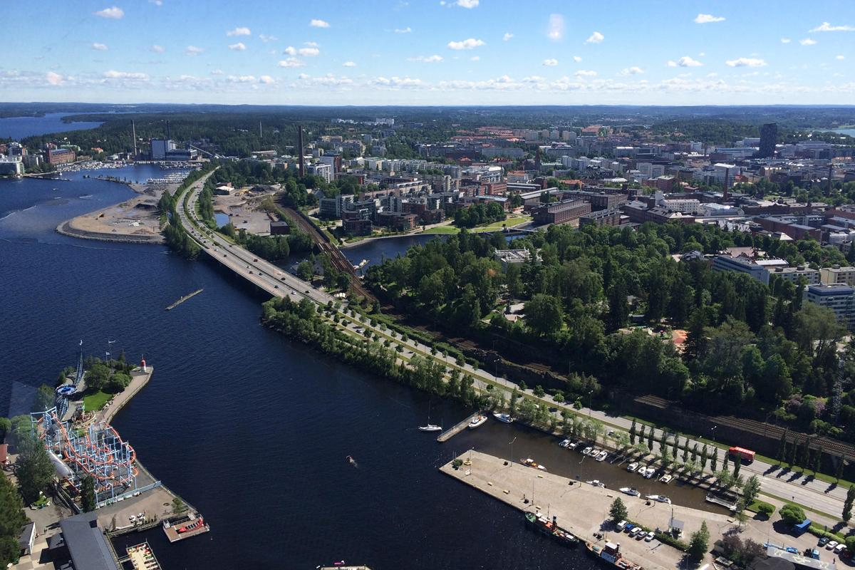 View from the deck of Näsinneula tower