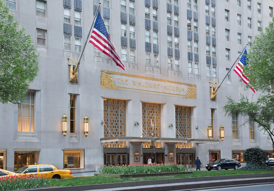 Waldorf Astoria New York hotel (in reality) </br> Photo: (с) Hilton