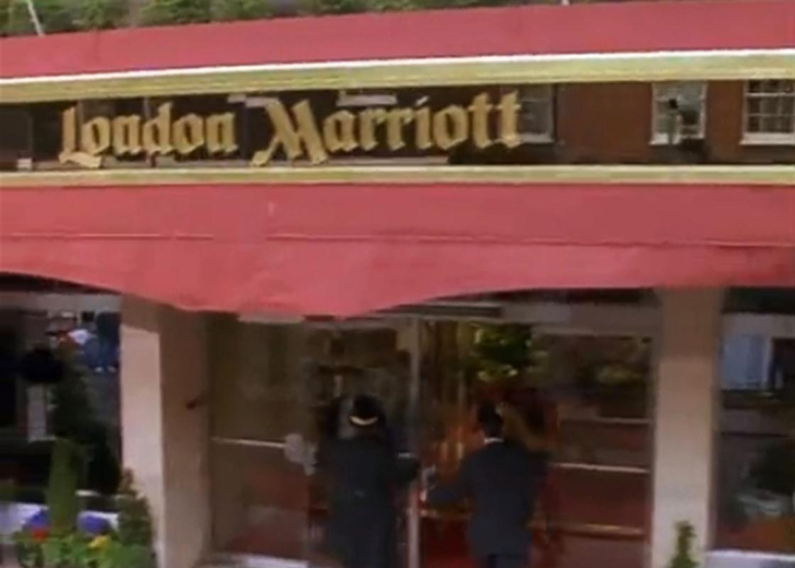 """Friends"""" television show: London Marriott Hotel Marble Arch"""