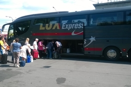 Lux Express shuttle bus inspection (Helsinki – St. Petersburg)