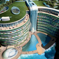 Unusual hotels: InterContinental Shanghai Wonderland inside abandoned quarry (China)