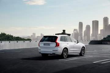 Future of travel with ride hailing services: Volvo Cars and Uber present production vehicle ready for self-driving